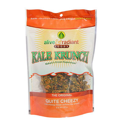 Alive and Radiant Kale Krunch Quite Cheesy