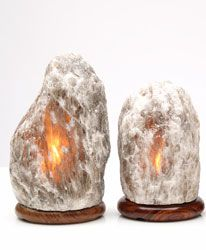 Grey Himalayan Salt Crystal Lamp (medium with dimmer cord) - Well of Life Center Store