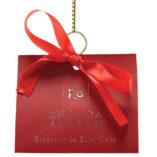 Rhonda Allison Holiday Wine Luster Red Euro Tote Set