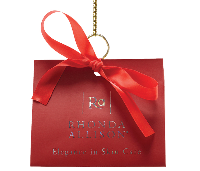 Rhonda Allison Holiday Wine Luster Red Euro Tote Set