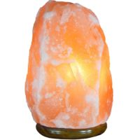 Amber Himalayan Salt Crystal Lamp